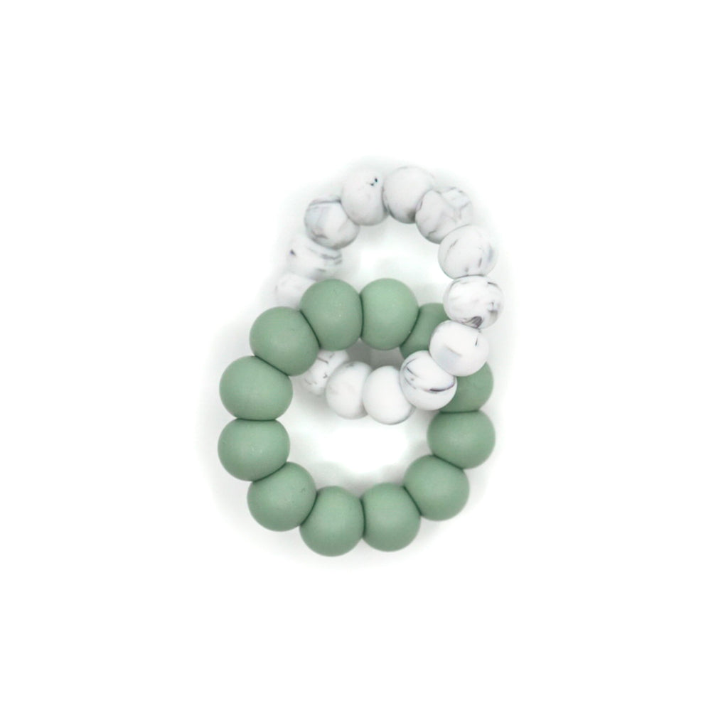 freezer friendly silicone ring teether