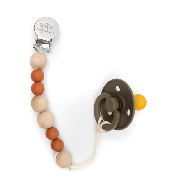 wooden pacifier clip