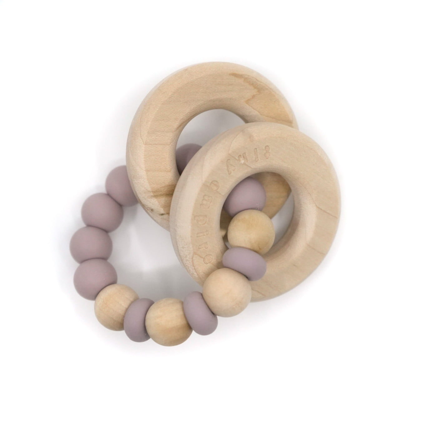 WOODLAND Silicone & Wooden Teether - Wildberry