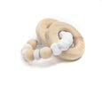 WOODLAND Silicone & Wooden Teether - Stone
