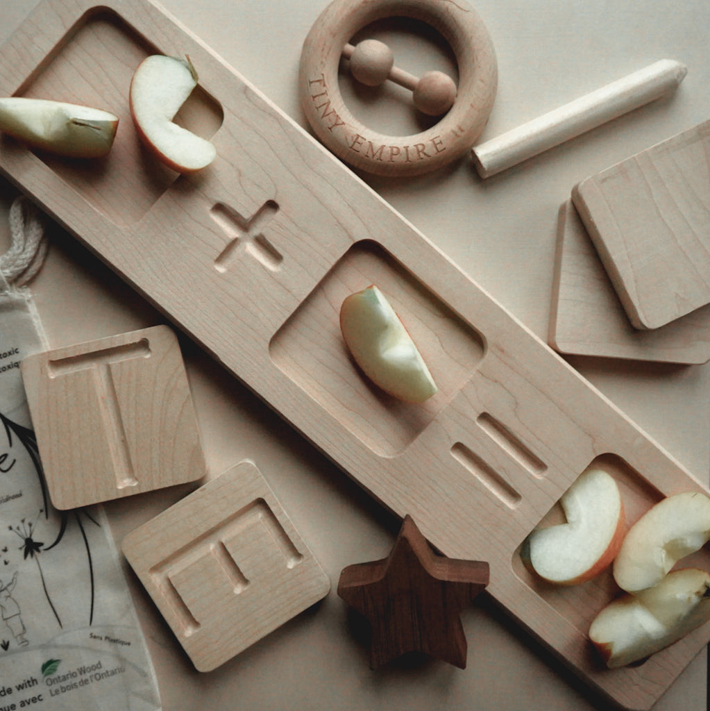 wood tracing letters for montessori learning play