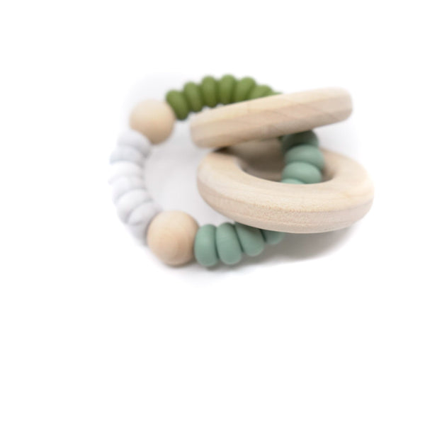 Neutral, nature inspired teether