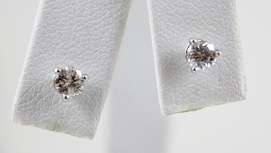 14K White Gold 0.48TCW Diamond Stud Earrings