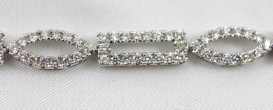 Lady's White Gold 14 Karat Bracelet with Approx. 192=3.45Tw Round G/H, SI1 Diamonds.