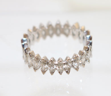 Platinum and Palladium Marquise Diamond Eternity Band