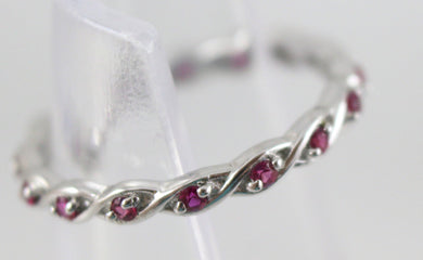 Sterling Silver Stackable Expressions Created Ruby Ring Size 7.
