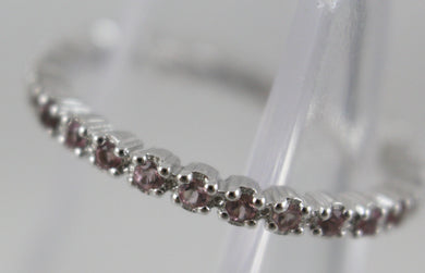 Sterling Silver Stackable Expressions Pink Tourmaline Ring Size 8