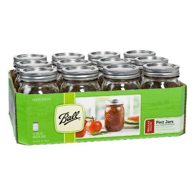 Ball Pint Regular Mouth Jars with Lids - The Protein Chef