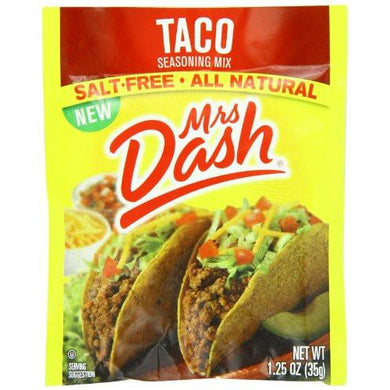Mrs. Dash Salt Free Taco Seasoning Mix (Pack of 12) - The Protein Chef