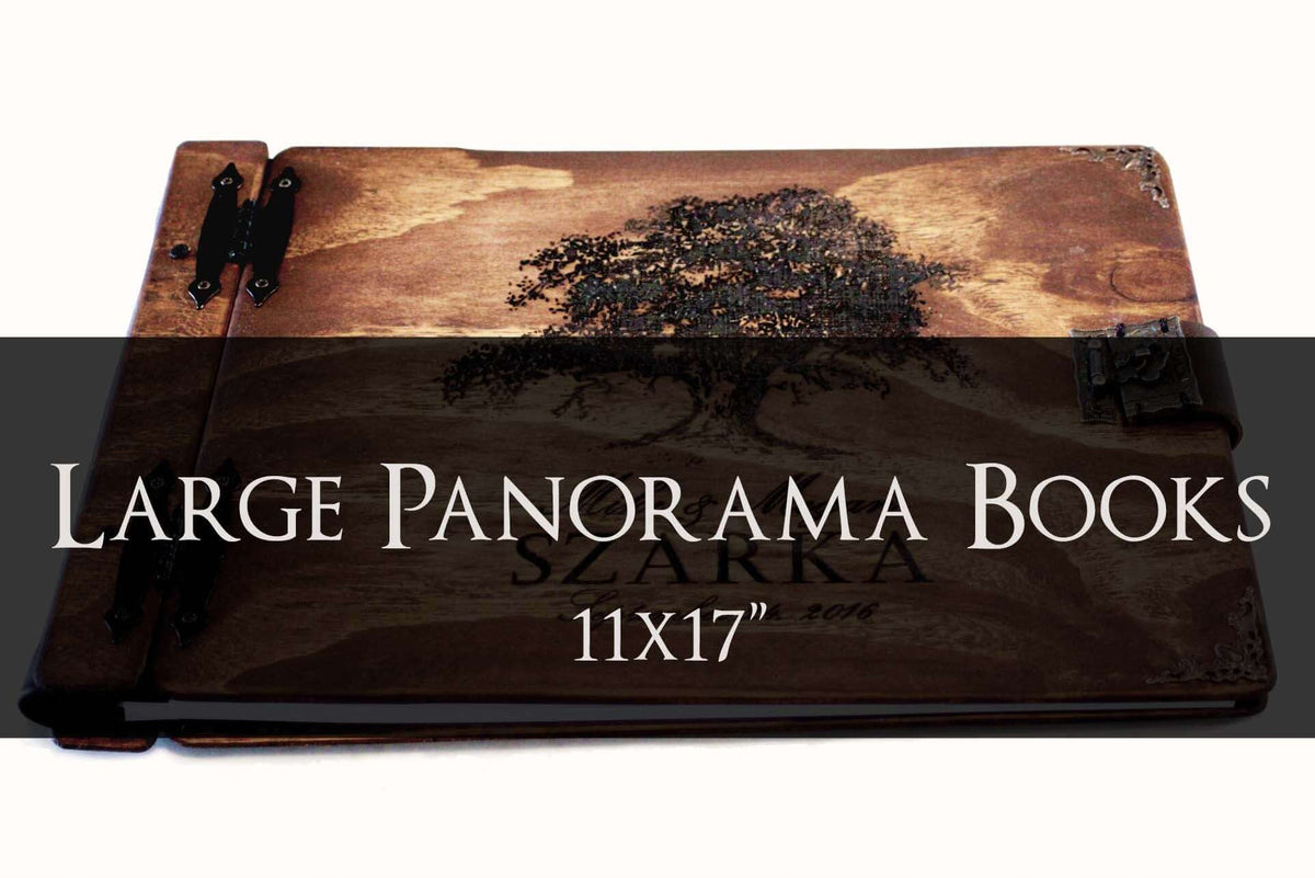 Large Panorama Wooden Books