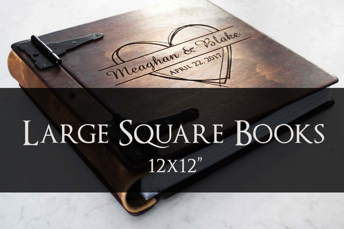 Large Square Wooden Books