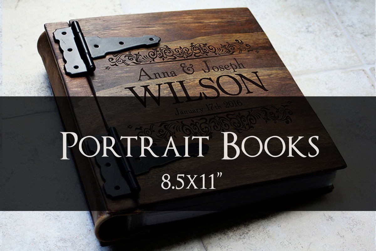 Portrait Wooden Books