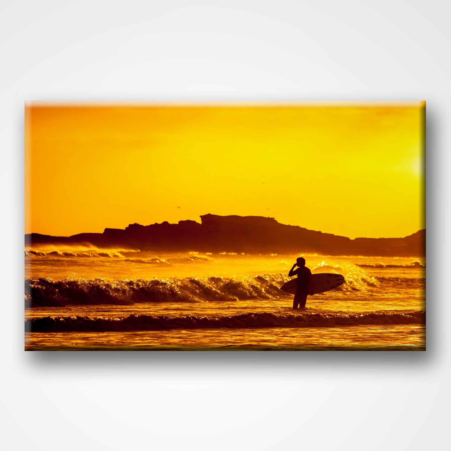 Sunset Surfing | Canvas Gallery Wall Art – But First Canvas