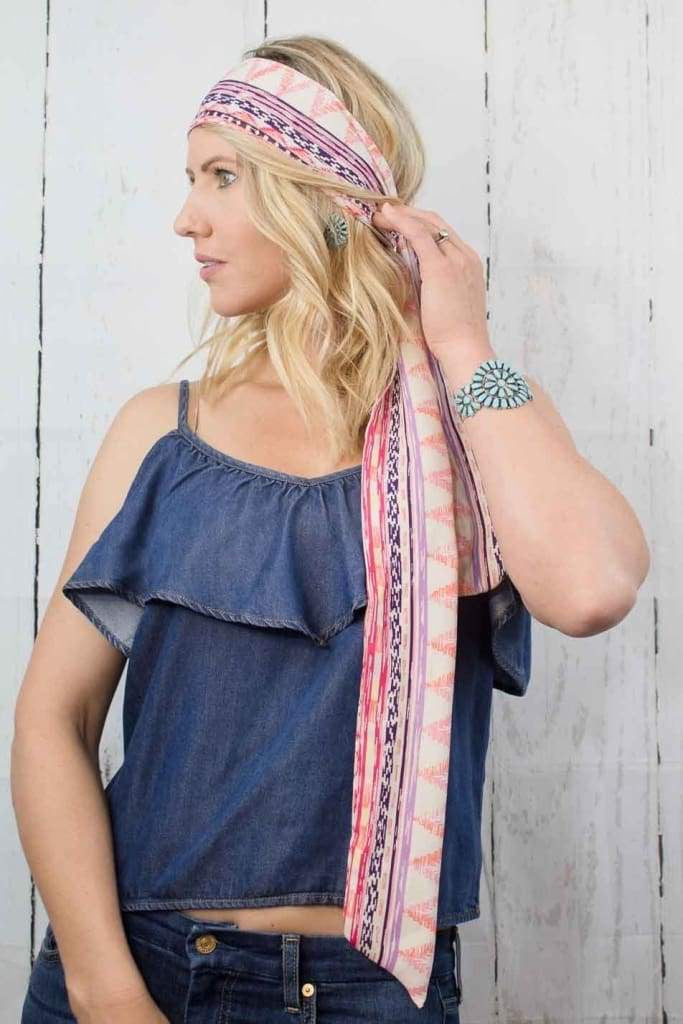 Pink Aztec Twilly
