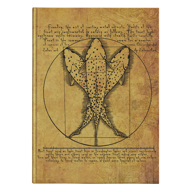 Vitruvian Trout - Hardcover Fishing Journal - Foundry Fishing
