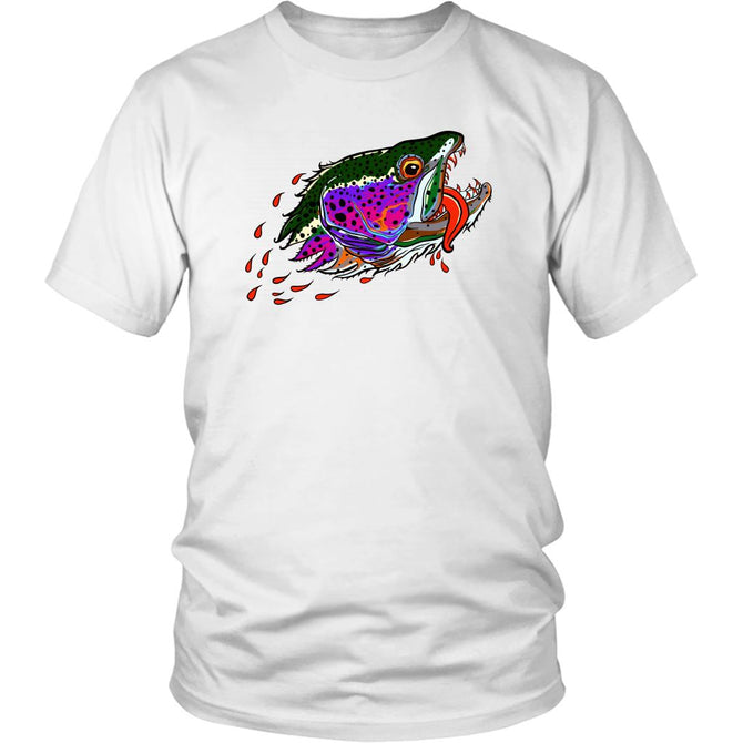 Badgers Water Wolf - Rainbow Trout Tee - Foundry Fishing