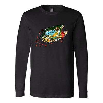 Badgers Water Wolf - Brown Trout - Color Options - Long Sleeve Tee - Foundry Fishing