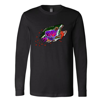 Badgers Water Wolf - Rainbow Trout - Color Options - Long Sleeve Tee - Foundry Fishing