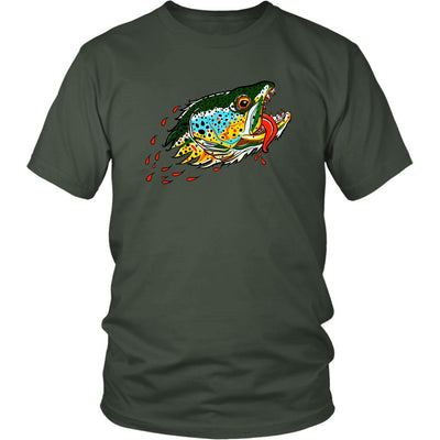 Badgers Water Wolf - Brown Trout Tee - Foundry Fishing