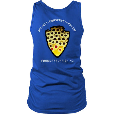 The Parks - Brown Trout - Womens Tank - Foundry Fishing