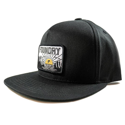 Last Light - Black snapback - Foundry Fishing