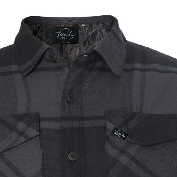 Against The Flow - Plaid -  Button Up Quilted Jacket - Foundry Fishing