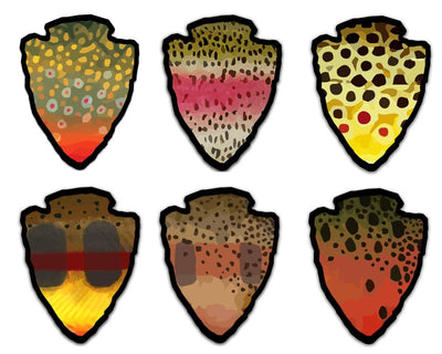 The Parks - Pick One  - Trout Sticker - Foundry Fishing