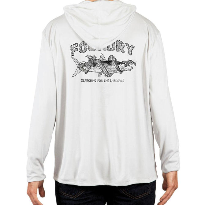 Searching For Shadows   - UPF 50+ Long Sleeve - Bonefish Fly Fishing Hoodie - Foundry Fishing