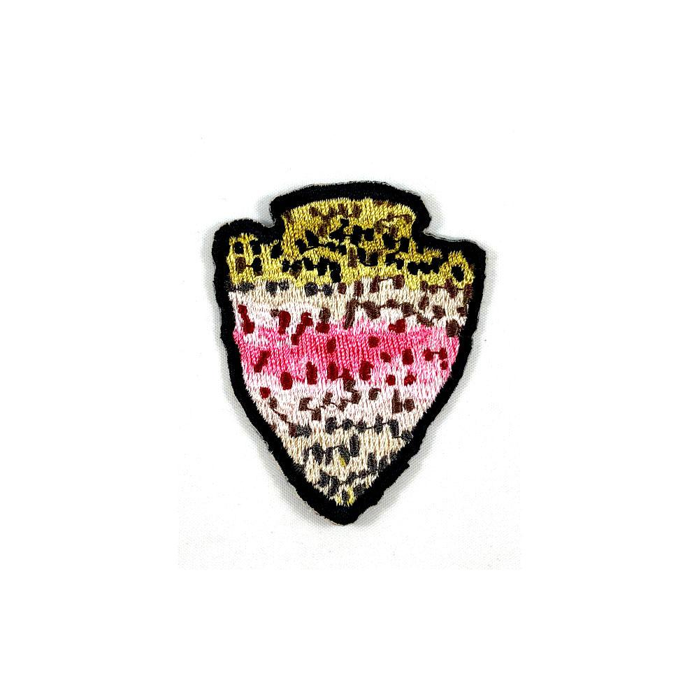 The Parks - Rainbow Trout - Iron On Fly Fishing Patch - Foundry Fishing