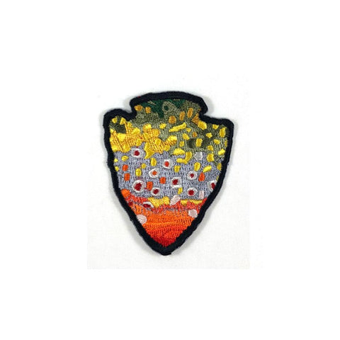 The Parks - Brook Trout - Iron On Fly Fishing Patch - Foundry Fishing