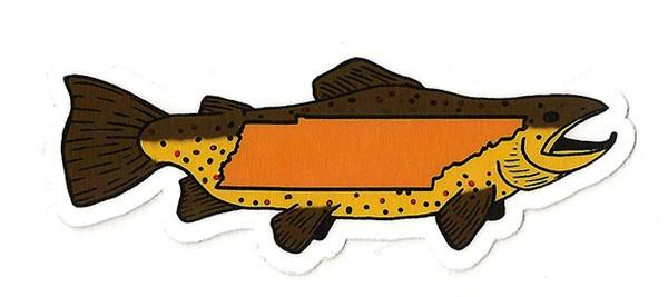 Go Big Brown Sticker - Foundry Fishing