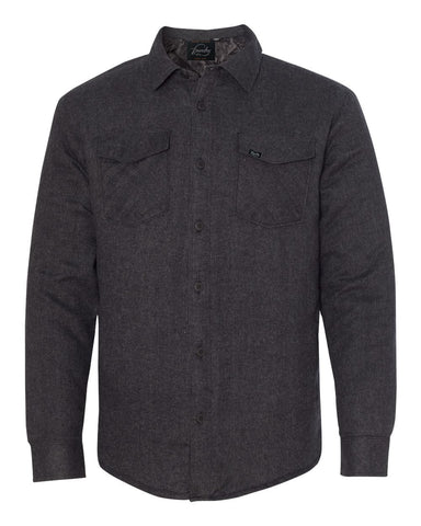Against The Flow - Charcoal -  Button Up Quilted Jacket - Foundry Fishing