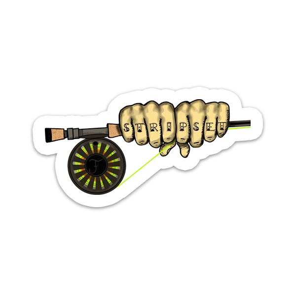 Strip Set Knuckles - Fly Fishing Sticker - Foundry Fishing