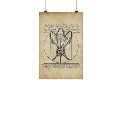 Vitruvian Trout - Fly Fishing Art Print - Foundry Fishing