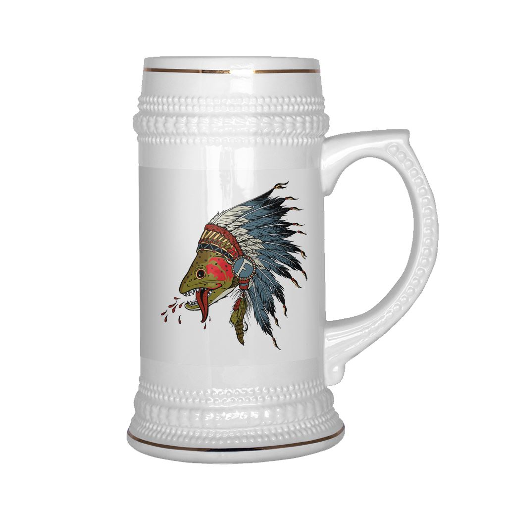 Respect The Natives - Beer Stein - Foundry Fishing