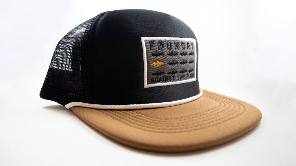 Against The Flow - Mesh Back Hat - Foundry Fishing