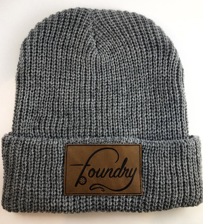 OG Logo - Leather Patch Beanie - Foundry Fishing