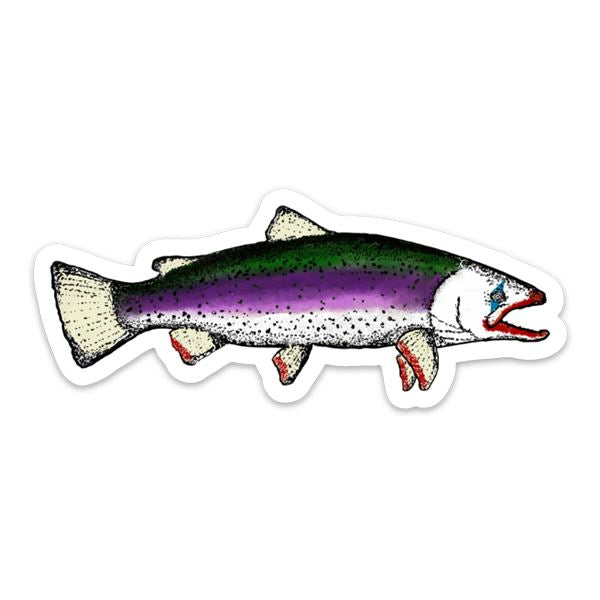Joker Trout - Fly Fishing Sticker
