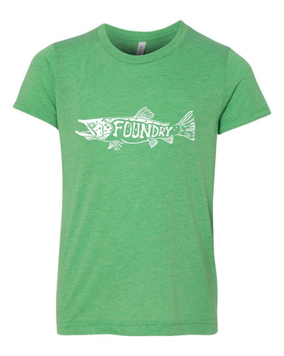 The Frenzy Kids - Green  - White Ink * - Foundry Fishing