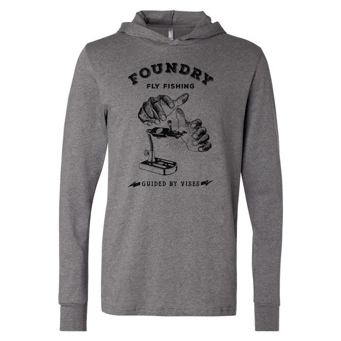 Guided By Vises - Screen Printed Long Sleeve Hoodie - Foundry Fishing