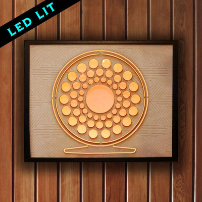 Fly Reel Sign - LED Backlit - Foundry Fishing