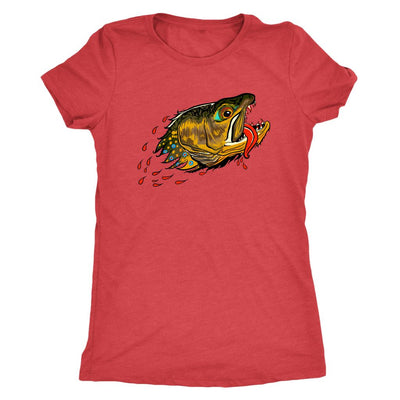 Badgers Water Wolf - Brook Trout - Womens Fly Fishing Tee - Foundry Fishing