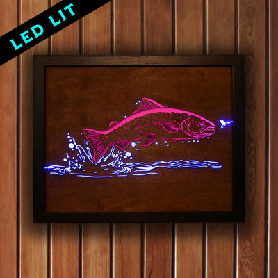 Trout Sign - LED Backlit - Foundry Fishing
