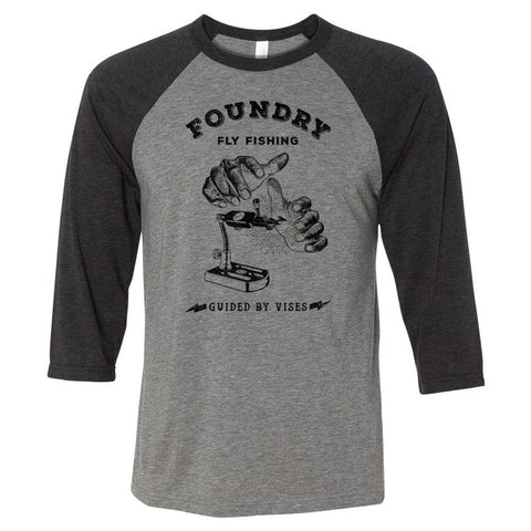 Guided By Vises - Screen Printed 3/4 Sleeve Raglan