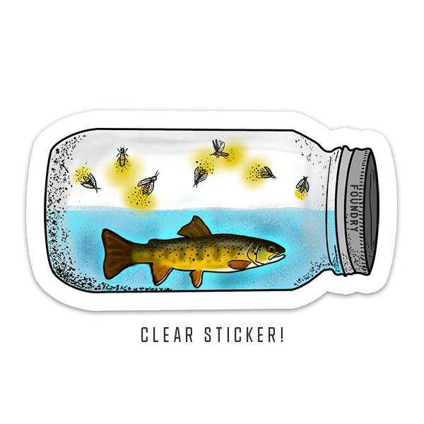 Lightning In A Bottle - Brown Trout Sticker - Foundry Fishing