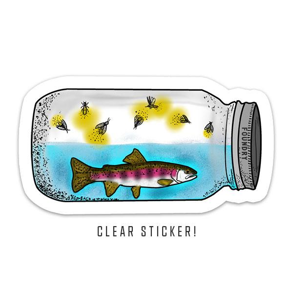 Lightning In A Bottle - Rainbow Trout Sticker - Foundry Fishing