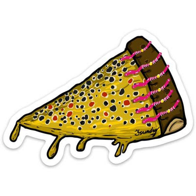 Cheat Day - Brown Trout - Fly Fishing Sticker - Foundry Fishing