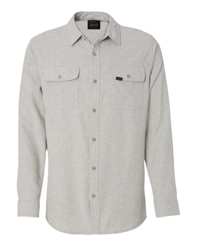 Against The Flow - Stone -  Button Up Flannel - Foundry Fishing