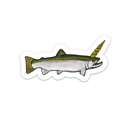 The Unicorn - Steelhead Sticker - Foundry Fishing