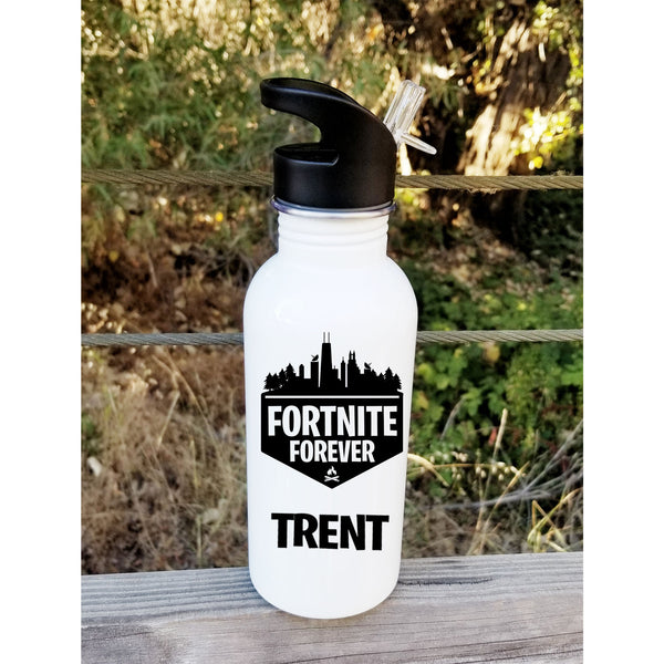Fortnite Forever Personalized Aluminum Water Bottle
